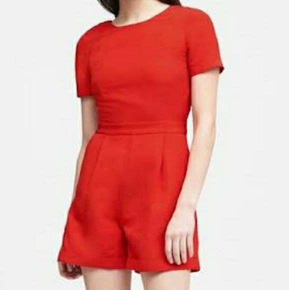 fc187c256c5c Banana Republic Dresses   Skirts - RED linen Banana Republic romper jumpsuit  onepiece